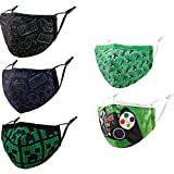 Reusable Cloth Face Masks with Nose Wire, 3D Blue Funny Cute Designer Breathable Washable Adjustable Purple Cotton Fabric mascaras para niños,