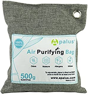 APALUS 500g Natural Air Purifying Bag. Odor Eliminator for Cars, Closets, Bathrooms and Pet Areas. Captures and Eliminates...