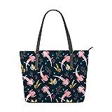 PICKIDS - Bolsa para acuario con elementos de algas marinas, bolsa de hombro para mujer, gran capacidad