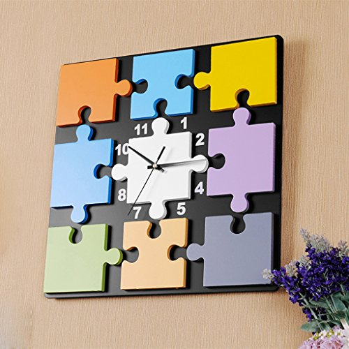 Orologio da parete Puzzle Creativo Orologio al Quarzo Decorazione Camera da Letto Muto Tavolo appendente Mestieri
