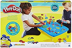 Play-Doh - Play n Store Table - Kids Play Set for Arts and Crafts Activities with 8 Non-Toxic 55g tubs of Dough and...