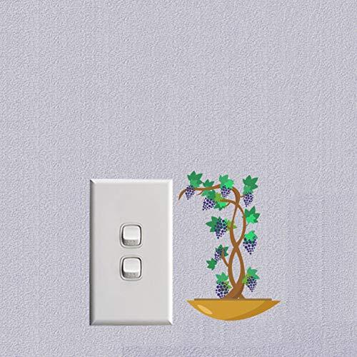 HYLCH lange muurstickers, paars, UV-bloem, PVC, veranderbaar, lifestyle-stijl.