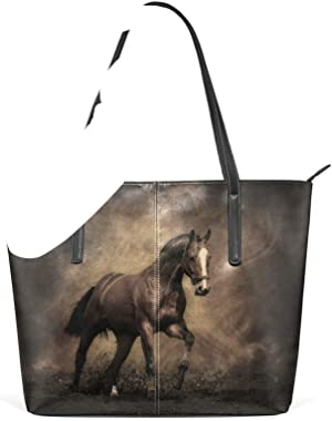 Bolsos Bolso de mano Animal para mujeres Niñas Damas Bolsos de hombro para estudiantes Cuero Polvo de caballo vintage Bolso m