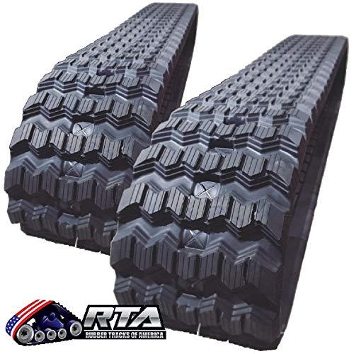 Two Rubber Tracks for Bobcat T250 T300 T320 T740 T750 T770 450X86X55 Zig Zag Tread Pattern