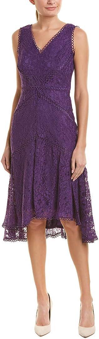 Taylor Dresses Women's Sleeveless Lace High Low Hem Dress