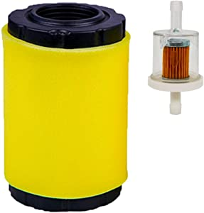 ZLKSKER 796031 Air Cleaner w/ Fuel Filter, Replace for B&S 591334 594201 797704 31A507 31A607, Lawn Mower Air Filter