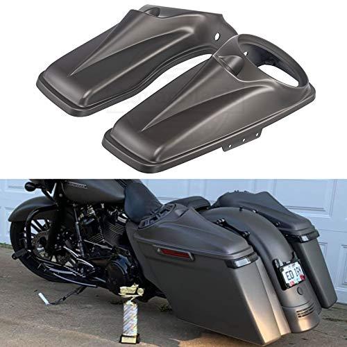 Moto Onfire 8 inch Speaker Lids, Saddlebag Covers Fit for H-D Touring Road Glide, Street Glide Special, Road King, 2014 2015 2016 2017 2018 2019 2020 (Industrial Gray Denim)