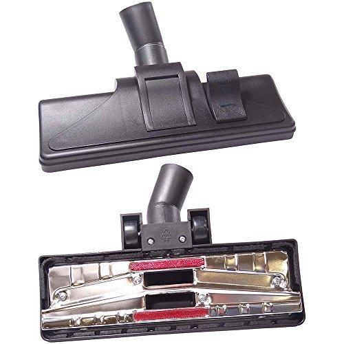 DREHFLEX - DUE51 - umschaltbare Bodendüse/Saugerbürste für verschiedene Sauger - Anschluss 30-37mm - mit Chromplatte + Räder + Fadenheber