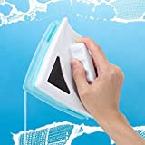 Magnetic Window Cleaner, Glass Wiper Window Cleaning Tool, Magnetic Glider Washing Brush Tools Double Sided, with Long Anti-Falling Rope for High-Rise Car Glazed Windows Thickness 0.2'-0.5'