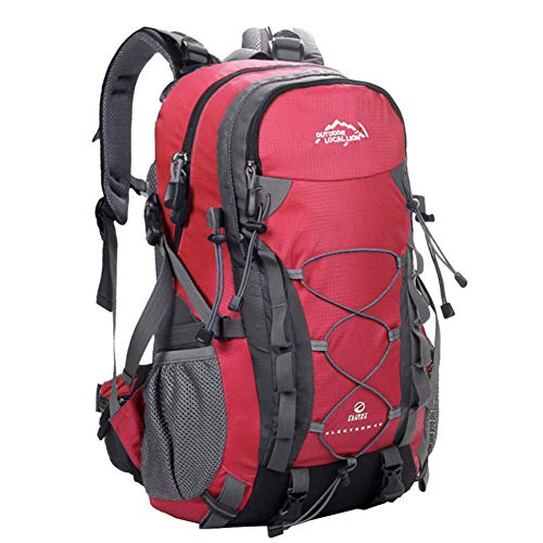 Lightweight Foldable Backpack Daypack Travel Water Backpack Daypack for Outdoor Camping Mountaineering Walking Cycling Climbing School Sport, red, size