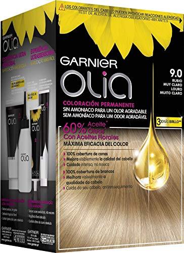Garnier Olia coloración permanente sin amoniaco para un olor agradable con aceites florales de origen natural - Rubio Muy Claro 9.0