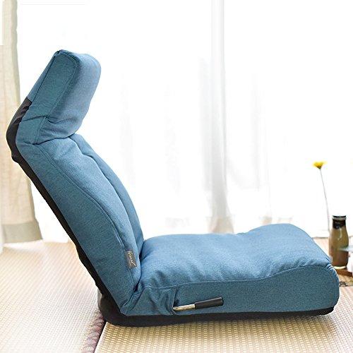 Stühle Feifei Faule Sofa zurück Faltbare Single Bett schwimmende Fenster Couch (Farbe : Blau)