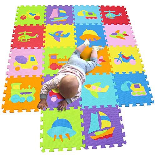MQIAOHAM Baby Matte spielmatte puzzelteppich Teppich puzzlematte Tiere krabbelmatte schaumstoffmatte Schaum bodenfliesen matten für Babys Puzzle mat Foam Schaumstoff P028028G321218