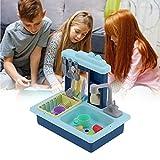 SHYEKYO Juguete para lavavajillas eléctrico, Seguro y ecológico Fregadero de Cocina Juguete para lavavajillas Material ABS Tiempo Entre Padres e Hijos(Blue)