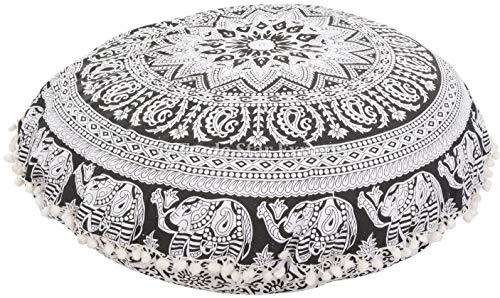Trade Star Large Round Round Coussins, Taies d'oreiller de Jet d'éléphant décoratifs 32\
