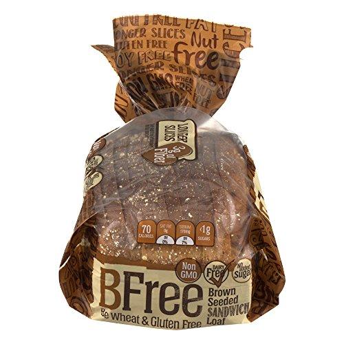 BFree Bfree Gluten Free Sandwich Bread, Seeded Brown, Vegan, Soy Free, Egg Free, Nut Free, Dairy Free, Kosher 14.11 Oz (Pack Of 3), Seeded Brown Bread