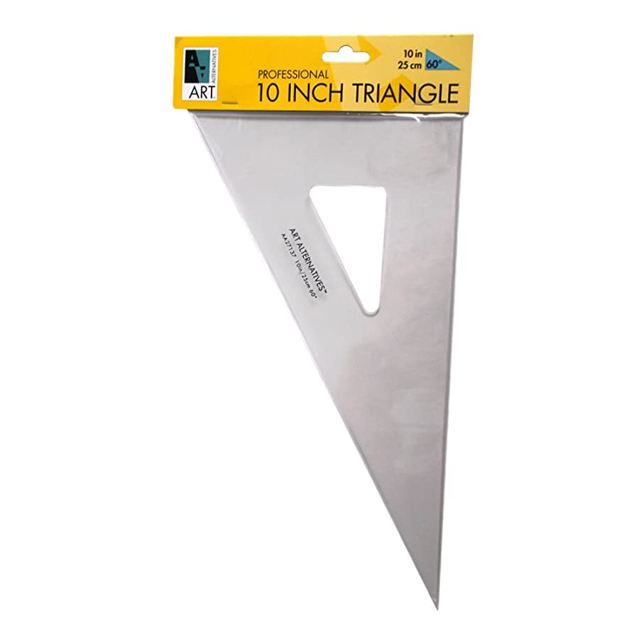 Art Alternatives 30 /60 /90 Triangle 10 Inch Ink Edge, Clear