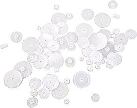 Sonline - Ruedas dentadas Módulo 0.5, de plástico, ideales para robots de bricolaje (58 unidades)