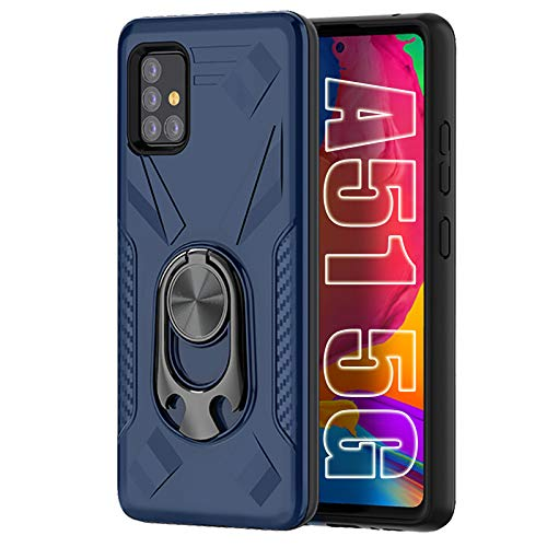 Jusy King of Party Case for Galaxy A51 5G Case with Bottle Opener Kickstand [NOT fit Verizon & 4G Version] Support Car Magnetic Bracket & Compatible with Samsung Galaxy A51 5G 2020[6.5'] (Blue)