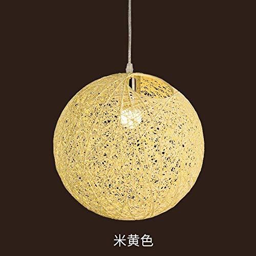 Un Gz Home buitenverlichting moderne vintage hanglamp hangende plafondlamp hennepbal lichten rotan restaurant gevlochten vogel 'S nest bal geel 30 cm keuken woonkamer slaapkamer kroonluchter decoratief