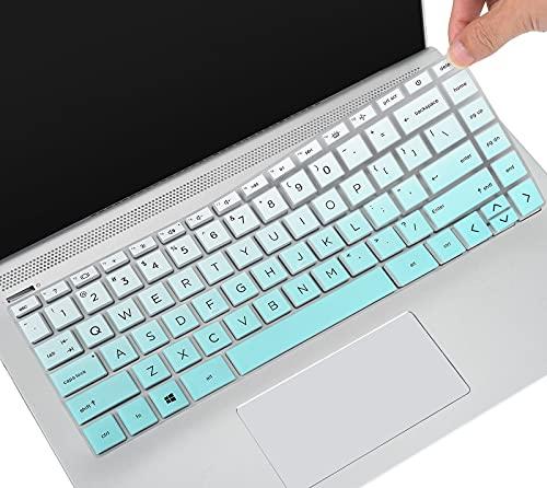 "CaseBuy Keyboard Cover Compatible 2021 2020 HP Pavilion x360 2-in-1 14"" Touch-Screen Laptop 14M-DW0013DX DW0023DX DW1013DX DW1023DX DW1033DX 14m-dy0013dx dy0023dx dy0033dx Protector Skin, Ombre Mint"