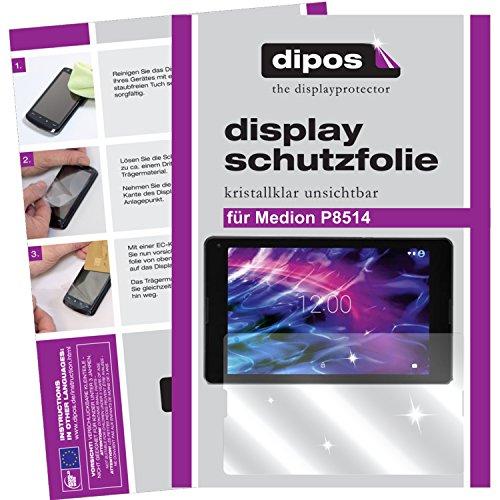 dipos I 2X Schutzfolie klar kompatibel mit Medion P8514 Folie Bildschirmschutzfolie