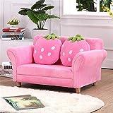 QuRRong Sillón Butaca Creativo Lindo Fresa pequeño sofá Dormitorio sofá Silla Sala de Estar decoración para Salón del Dormitorio (Color : Pink, Size : 90x55x48cm)