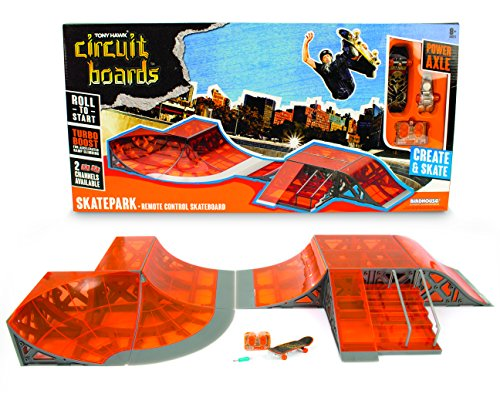 Tony Hawk Circuit Boards by Hexbug - Skate Park + Remote Control Skateboard
