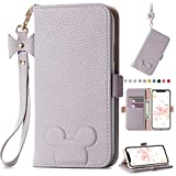 iPhone 11 pro Cute Cartoon Wallet Case for Girls Women Lovely PU Leather Flip Book Cover Card Slots Stand Magnetic Closure Wrist Strap Case for iPhone 11 pro 5.8 Inch