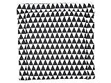 KraftKids Wickelauflage in schwarze Dreiecke, Wickelunterlage 60x70 cm (BxT), Wickelkissen