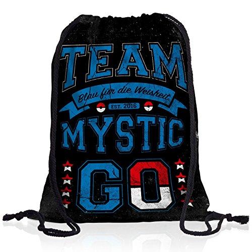 style3 Team Blau Mystic Rucksack Tasche Turnbeutel Sport Jute Beutel Wissen Weisheit, Rucksack Farbe:Motiv 2