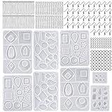 Moldes de Resina Silicona Epoxi Molde Resina Crafting Kit con Ganchos Anillos de...
