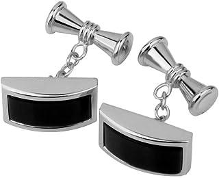 Chic Mens Shirt Cufflinks Business Suit Black Enamel Cuff Links Party Decor Trendy Cuffs Accessory Styling Best Designs Elegant Accessories Good Cuff-link