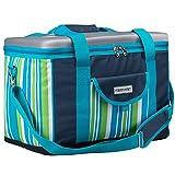 anndora Kühltasche XL dunkelblau Limette 40 Liter - Kühlbox Isoliertasche Picknicktasche