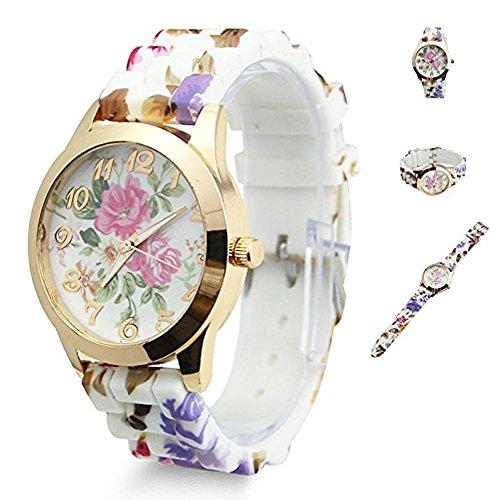 TrifyCore Reloj de Mujer Reloj de Flores con Flores Mejor Regalo para Amantes de la Madre Vestido de Mujer Relojes de Pulsera de Cuarzo