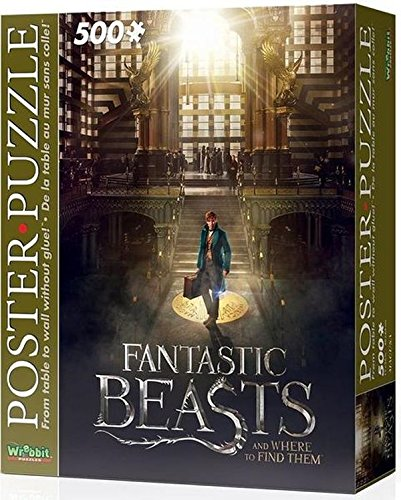 Wrebbit 3D Puzzle Puzzle de póster de MACUSA con Bestias fantásticas y dónde encontrarlos