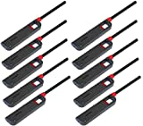 10 Pack Refillable Lighter for Kitchen Camping Grilling BBQ Home Adjustable Flame
