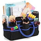 Traveller Fundamentals Organizer Tote Bag - 600D Blue Nylon Fabric - Art, Craft, Sewing Supplies Storage