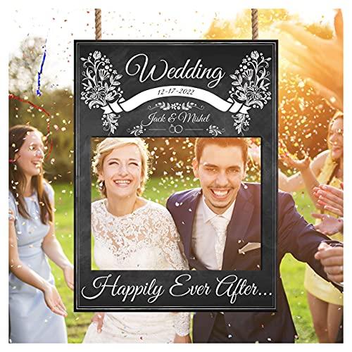 Chalkboard Wedding Photo Booth Frame - Wedding Welcome Photo Booth Frame - Wedding Reception Photography Sign
