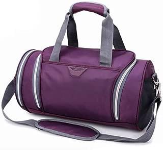 Asdfnfa Backpack, Sports Bag Fitness Bag Portable Training Bag Shoulder Yoga Bag Large Capacity Short Travel Bag Shoulder Bag,41x22x22CM (Color : Purple)