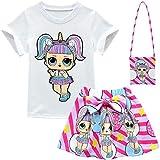 ALAMing T-Shirt mit kurzen Ärmeln für Mädchen, Motiv LOL Surprise Doll,Style01,7-8 Jahre...