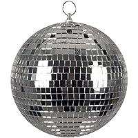 Boland 00703 - Bola de Discoteca, Plata, diámetro Aprox. 20 cm, Disco Fever, años 70, decoración Colgante, Bola de Purpurina, Fiesta temática, Carnaval.