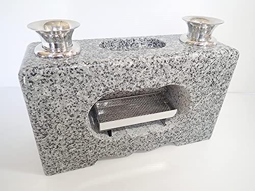 花立 香炉 墓石用花立一体型 白御影石
