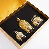 Set di siero ringiovanente pelle d'oro fine, 24 foglio d'oro, nicotinamide, base di barbabietola, acido ialuronico, ecc. Fatto