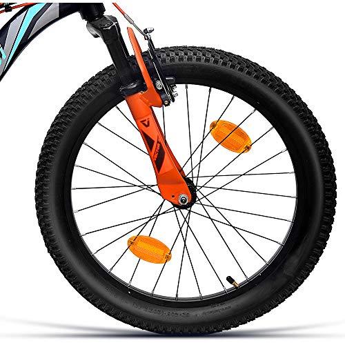 VECTOR 91 Rover 20T Single Speed Hybrid Bike ( Black & Turquoise , Ideal For : 7 to 9 Years , Brake: V Brake )
