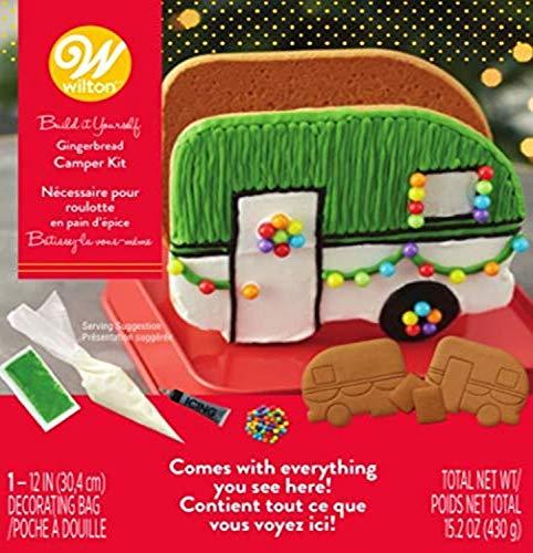 Wilton Unassembled Gingerbread Camper Kit