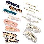 Beauty Shopping 15 PCS Pearls Hair Clips-Cehomi Fashion Korean Style Acrylic Resin Hair Barrettes