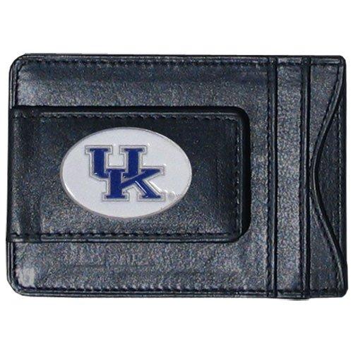 University Of Kentucky UK Leather Money Clip Card /& Cash Holder NCAA Black