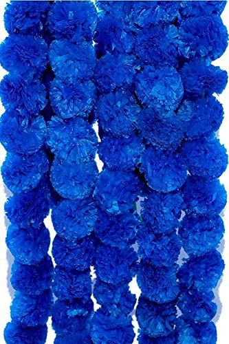 ZT|Indian New Home Decorative Flower Mala for decore Your Home in Festival 12 Pcs 1 Meter Each.Garlands