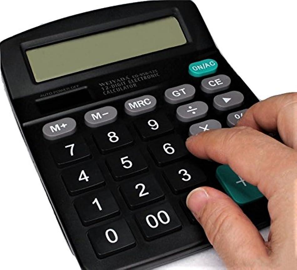 バイバイ保存セール見やすい 打ちやすい 大型液晶と大型ボタン 楽々使える電卓 12桁